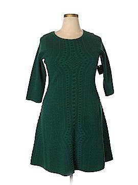 Gabby Skye Casual Dress Size 1X (Plus)