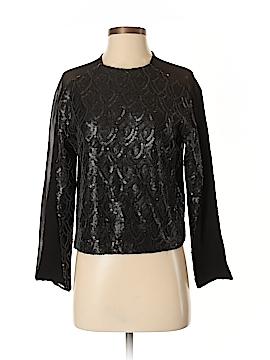 Line & Dot Long Sleeve Blouse Size M