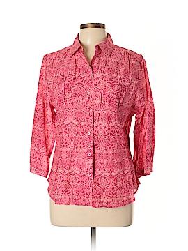 Bit & Bridle Long Sleeve Button-Down Shirt Size L