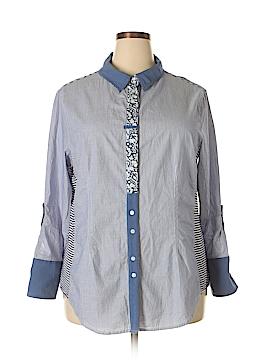 MULTIPLES Long Sleeve Button-Down Shirt Size 2X (Plus)