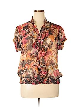 Downeast Short Sleeve Blouse Size XXL
