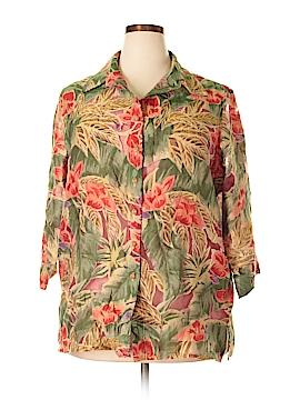 TanJay 3/4 Sleeve Blouse Size 16 (Plus)