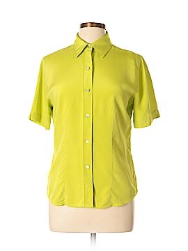 Chico's Design Short Sleeve Silk Top Size Sm (0)