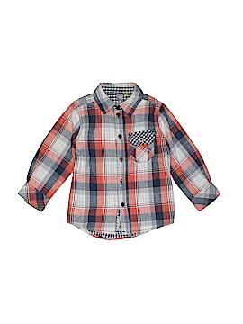 Petit Lem Long Sleeve Button-Down Shirt Size 2