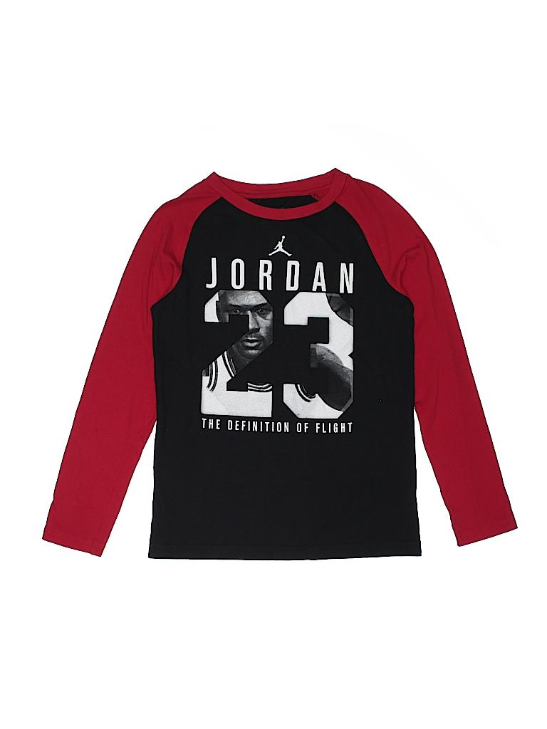 eb2ed2996702 Air Jordan 100% Cotton Solid Black Long Sleeve T-Shirt Size L (Youth ...