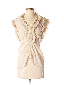 Yoana Baraschi Short Sleeve Silk Top Size S