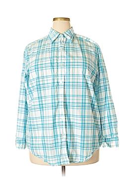 Eddie Bauer Long Sleeve Button-Down Shirt Size 1X (Plus)