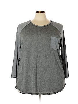 Danskin Now 3/4 Sleeve T-Shirt Size 2X (Plus)