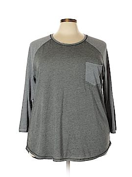 Danskin Now 3/4 Sleeve T-Shirt Size 3X (Plus)