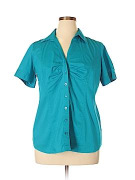 Fashion Bug Short Sleeve Button-Down Shirt Size XL