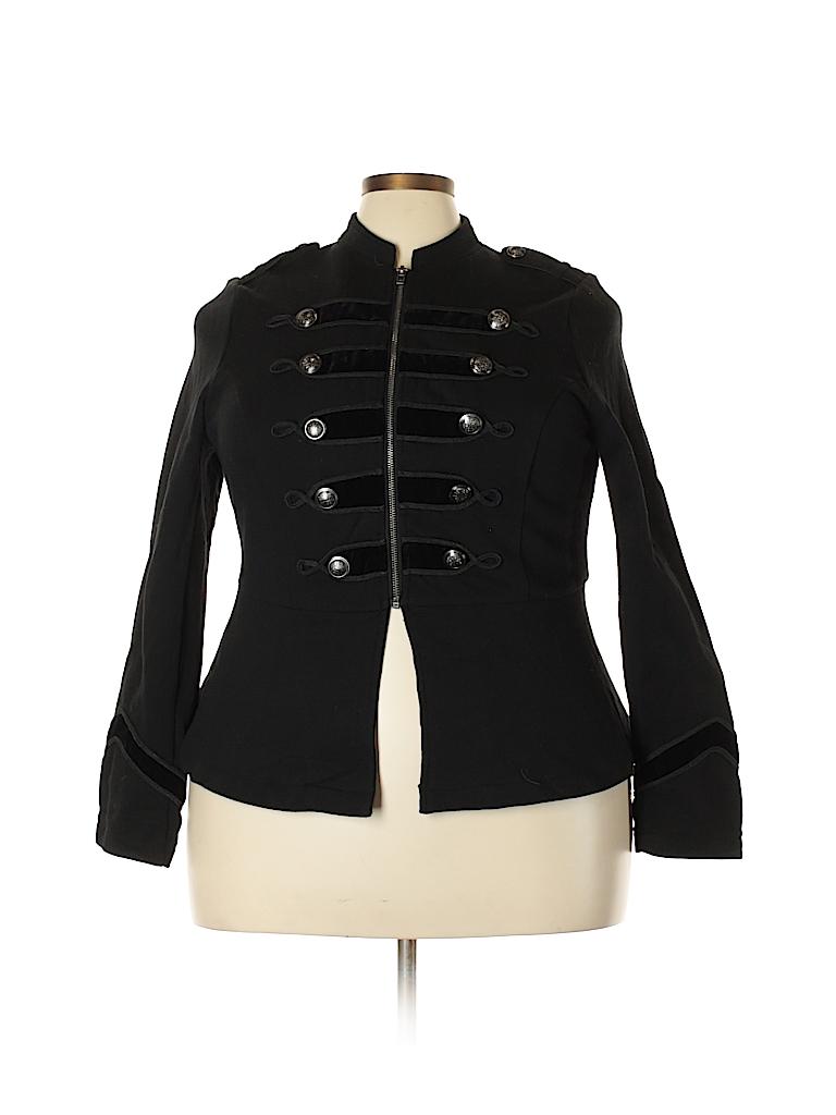 b3714b7e372 Torrid 100% Cotton Solid Black Jacket Size 1X Plus (1) (Plus) - 73 ...