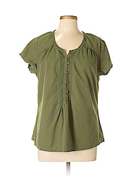 Bit & Bridle Short Sleeve Button-Down Shirt Size XL