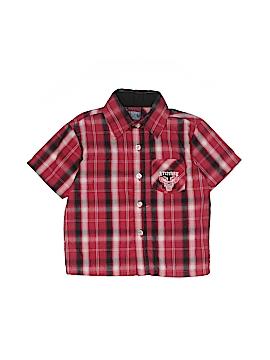 Quad Seven Short Sleeve Button-Down Shirt Size 3T