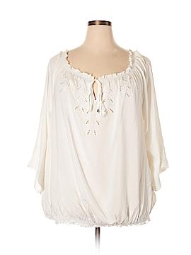 City Chic 3/4 Sleeve Blouse Size 24 Plus (XL) (Plus)