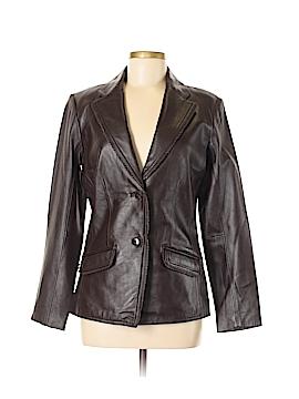 Jaclyn Smith Leather Jacket Size 6