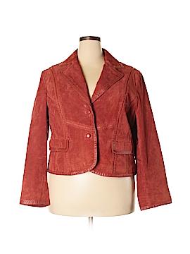 Pamela McCoy Leather Jacket Size 2X (Plus)