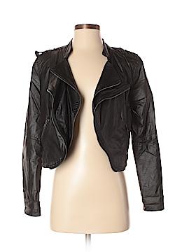 Dots Women Faux Leather Jacket Size S