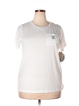 RACHEL Rachel Roy Short Sleeve T-Shirt Size 1X (Plus)