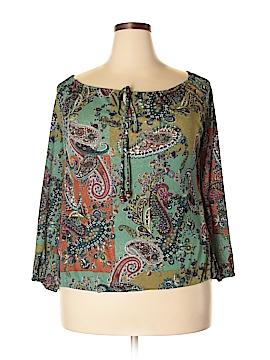 Karen Kane Long Sleeve Blouse Size 1X (Plus)