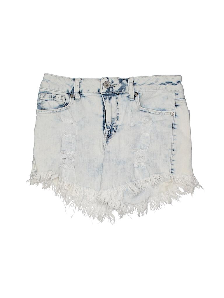 911ca61e937575 Altar'd State Solid Light Blue Denim Shorts 25 Waist - 79% off | thredUP