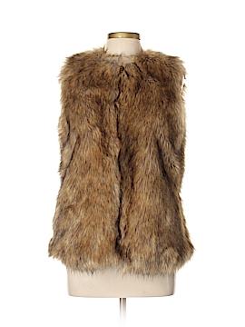 Trafaluc by Zara Faux Fur Vest Size L