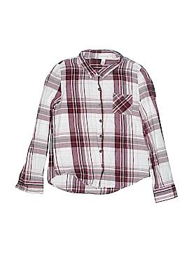 Full Tilt Long Sleeve Button-Down Shirt Size X-Large (Kids)
