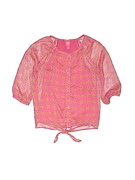 J. Khaki 3/4 Sleeve Blouse Size M (Kids)