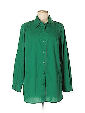 Joan Rivers Short Sleeve Button-Down Shirt Size L