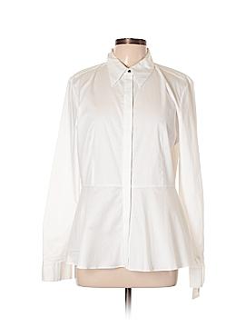 Ellen Tracy Long Sleeve Button-Down Shirt Size L