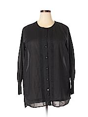 Lands' End Women Long Sleeve Blouse Size 1X (Plus)