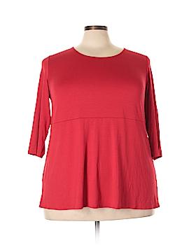 J.jill 3/4 Sleeve Top Size 2X (Plus)