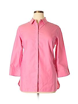 Foxcroft 3/4 Sleeve Button-Down Shirt Size 14