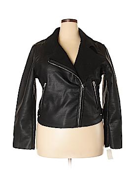 Vigoss Faux Leather Jacket Size 2X (Plus)