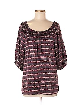 Signature Short Sleeve Silk Top Size M