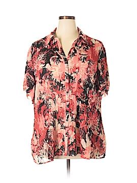 DressBarn Short Sleeve Blouse Size 22 (Plus)