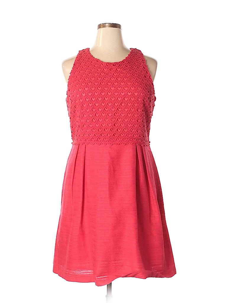 6465b8687b Ann Taylor LOFT Lace Red Casual Dress Size 16 - 75% off