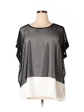 City Chic Short Sleeve Blouse Size 22 Plus (L) (Plus)