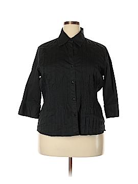 Allison Morgan 3/4 Sleeve Button-Down Shirt Size 1X (Plus)
