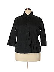 Allison Morgan Women 3/4 Sleeve Button-Down Shirt Size 1X (Plus)