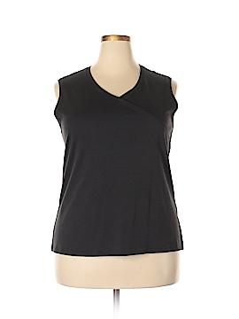 Carole Little Sleeveless T-Shirt Size 2X (Plus)