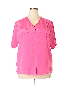 Ship'n Shore Short Sleeve Blouse Size 18 (Plus)