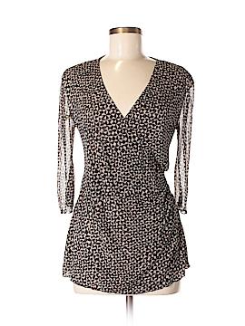 Diane von Furstenberg 3/4 Sleeve Silk Top Size M (Maternity)