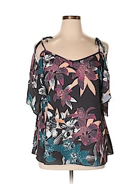 City Chic Short Sleeve Blouse Size 16 Plus (S) (Plus)