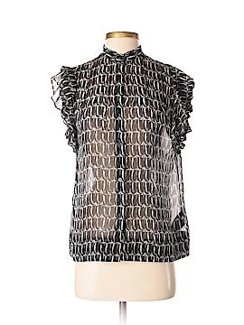 Club Monaco Short Sleeve Silk Top Size S