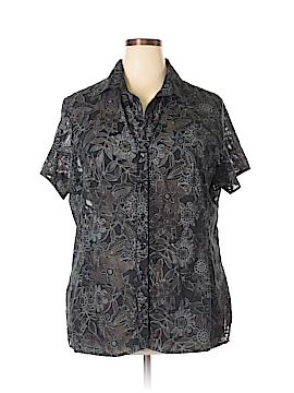Apostrophe Short Sleeve Button-Down Shirt Size 22 - 24w (Plus)