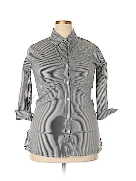 Jazzie 3/4 Sleeve Button-Down Shirt Size 1X (Plus)
