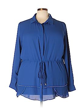 FASHION TO FIGURE Long Sleeve Blouse Size 3X Plus (3) (Plus)