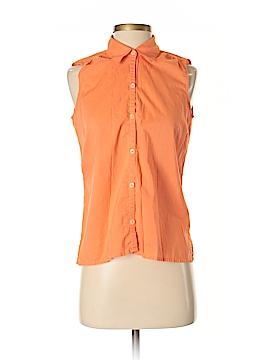 Lizsport Sleeveless Button-Down Shirt Size S