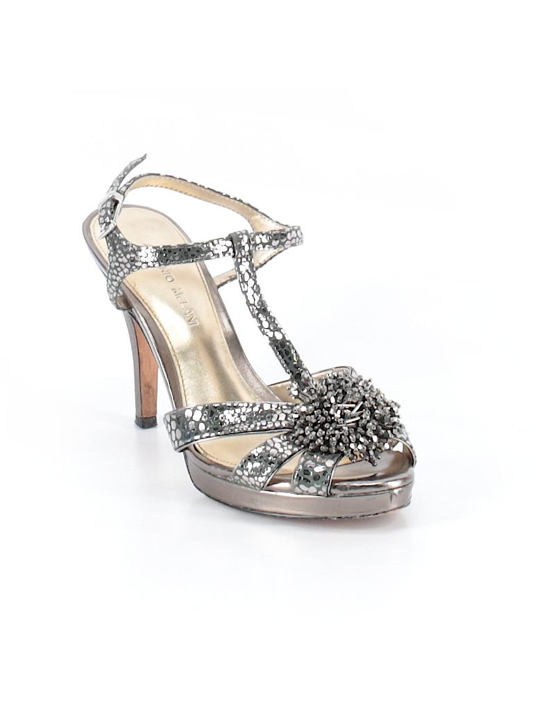 29078162ce8 Antonio Melani Metallic Silver Heels Size 10 - 71% off
