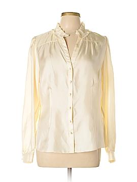 Banana Republic Long Sleeve Silk Top Size L